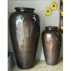 Vaso Pote G  - 154 Alt x 48 Diam x 42 B em Fibra de Vidro