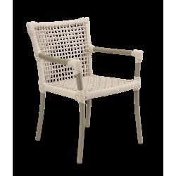 Cadeira Dora com Braço Corda Náutica