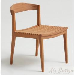 Cadeira Hália sem Braço em Madeira Cumaru - Design Daniela Ferro