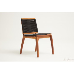Cadeira Velo sem Braço Corda Náutica Design Claudia Mazziere