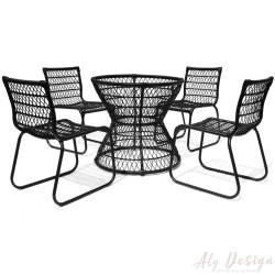 Conjunto Base Huelva e Cadeiras sem Braço  - Design Studio MA