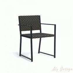 Cadeira Palermo com Braço Fibra Sintética