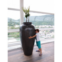 Vaso Pote 1,60 Alt  x 50 Diam  x 43 B em Fibra de Vidro