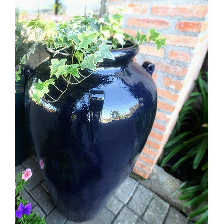 Vaso Pote M com Alça 108 Alt x 38 Diam x 34 B em Fibra de Vidro