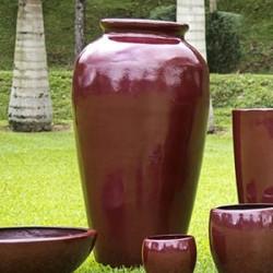 Vaso Pote 1,35 Alt  x 43 Diam x 36 B em Fibra de Vidro